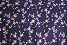 purple and green floral (by pip&squeak)