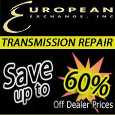Happy Monday! Need your transmission repaired in NJ? European Exchange provides expert transmission repairs in NJ! Save up to 60% off dealer prices! Visit our website to learn more!