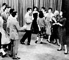 Doing the stroll on American Bandstand