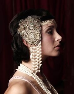 1920s Fashion Flappers Headdress 1920's flapper headpiece