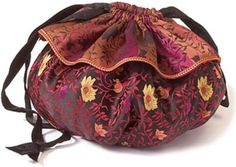 Get patterns and instructions for a simple, quick-to-make drawstring bag, free