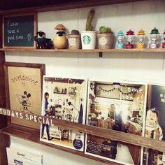 棚の画像 by rematさん   棚とカフェみたいな暮らしコンテストと本棚と観葉植物とサボテン科とグリーンインテリアとセリア