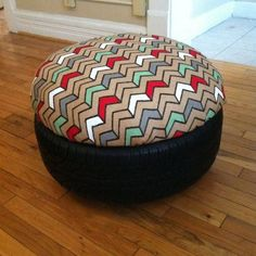If you're like most drivers, your car gets new tyres every two or three years. Those old tyres typically end up as landfill. Shredded maybe, but landfill none-the-less. Here's a great way to help yourself and the environment...recycle them by turning them into an ottoman or a table. You won't even notice that these ottomans and table are made from tires. They're perfect for both indoor and outdoor living spaces. With this project, you get abeautiful and cozy ottoman and table as uni...