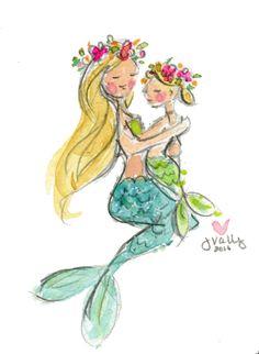 Image of Mermaid Momma Print