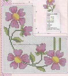 Ponto cruz: Flores Página 2.