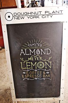Doughnut Plant chalkboard : via A Beautiful Mess
