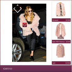 Stay comfy in winters with a Cotton Candy Shearling Coat just like Gigi Hadid. #brand #celebrity #collection #cool #deals #dress #event #fashion #film #hollywood #movie #parties #party #search #shopping #style #stylish #trends #accessories #GigiHadid #holidays #coat #pink #ShearlingCoat #winters  http://back.ly/5QEG