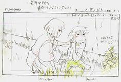 Film: Spirited Away (千と千尋の神隠し) ===== Layout Design - Scene: Chew... & Swallow ===== Hayao Miyazaki