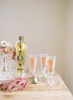 View entire slideshow: 15 Ways to Serve Up Bubbly on http://www.stylemepretty.com/collection/443/