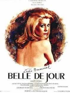 1967 ‧ Drame/Érotisme ‧ 1h 46m de Luis Buñuel avec Catherine Deneuve, Jean Sorel - Épouse d'un jeune interne des hopitaux, Pierre, Séverine n'a jamais trouvé un véritable plaisir auprès de lui. Un des amis du ménage, play-boy amateur de call-girls, lui glisse un jour l'adresse d'une maison clandestine. Troublée, Séverine ne résiste pas à l'envie de s'y rendre et ne tarde pas à devenir la troisième pensionnaire de Mme Anaïs. Elle y est appelée Belle de jour...