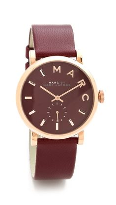Channeling my grandma here. What a great red. Marc by Marc Jacobs Leather Baker Watch $175 Shopbop