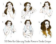 DIY Ombre Hair Color | Diy ombre hair, Summer highlights and Diy ombre