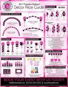 Balloon Decor   Price Guide   Party   Cleveland Ohio   Bar/Bat Mitzvah   www.whimzeyllc.com