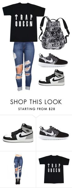 """Untitled #15"" by jadasmith1 ❤ liked on Polyvore featuring Retrò, NIKE and Victoria's Secret"