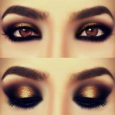 Smokey Bronze eye make up