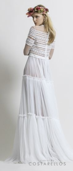 Christos Costarellos Bridal 2014 collection#bohemian #weddingdress