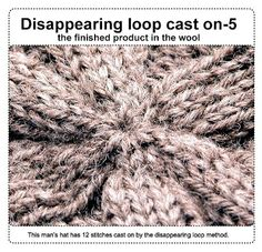 Knitting: casting on from the middle--disappearing loop method.