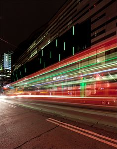 TTC Streetcar passing in front of TIFF Bell Lightbox on King Street West photo by Sam Javanrouh.