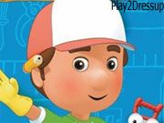 Free Online Girl Games, Handy Manny Online Coloring Game - Handy Manny loves helping his friends fix things!  Bring Handy Manny to life by coloring in this image of him lending a hand!, #coloring #drawing #painting #kid #cartoon #hanny #manny
