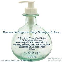 Homemade organic baby shampoo & wash