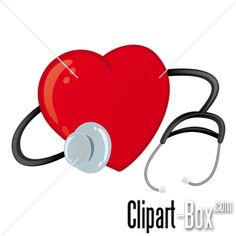 CLIPART HEART AND STETHOSCOPE