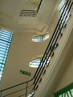Hoover Factory 1932: London art deco stairwell