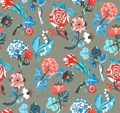 Lady Jane by Petra Börner   Illustrators design bold patterns for Heal's first modern fabric line - Digital Arts