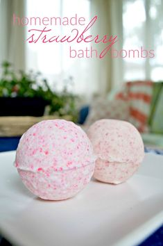 How to Make Your Own Strawberry Bath Bombs