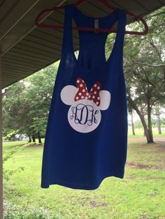 Mickey Mouse Monogrammed Tank by MonogramMondays on Etsy, $20.00
