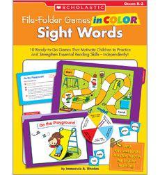 File-Folder Games in Color: Sight Words