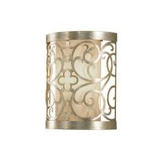 The Feiss Lighting Arabesque wall sconce in silver leaf patina offers shadow-free lighting in your powder room, spa, or master bath room. This Arabesque silver leaf patina sconce combines function and style. Black Wall Sconce, Rustic Wall Sconces, Modern Sconces, Wall Sconce Lighting, Traditional Wall Sconces, Traditional Lighting, Sconces Living Room, Silver Walls, Thing 1