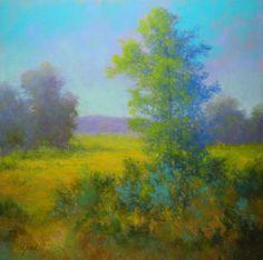 """©2012 Paula Ann Ford, Delicate Nature, Soft Pastels on Art Spectrum Colorfix, 10""""x10"""""""