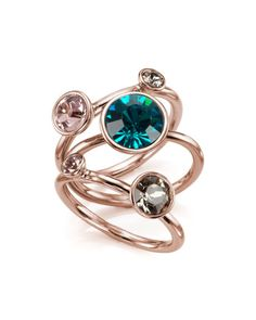 Jewel clustered ring - Turquoise | Jewellery | Ted Baker UK