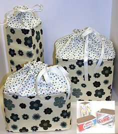 Storage Boxes pdf Sewing Pattern  made from 12 by flowergirldesign, $8.00
