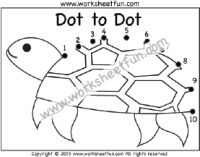 Dot to Dot - Bee -Numbers 1-20 - One Worksheet   Free ...