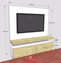 mueble tv ref: mural19 blanco y madera natural mueble tv ref: mural19 blanco y madera natural