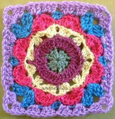 Kaleidoscope Crochet Flower Pattern. Free pattern to download from allfreecrochet.com. Visit site