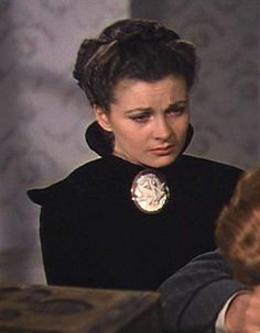 Mourning dress: The moment when Scarlett realizes how she really feels.