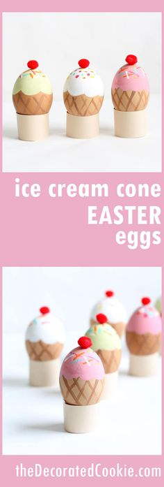 ice cream cone Easter eggs -- no-dye -- Easter egg decorating ideas