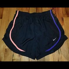 """Nike Multi Colored Strips Black Shorts S - NWT  Brand new, never worn, no damage. Has """"underwear"""" layer inside.   Smoke-free, pet-free household.    No trades/swaps!   No holds!   No low-balling!   No PayPal!   ✔ Reasonable offers welcomed! Please use the offer button so I know you are serious about the item! I will not respond to price negotiations via comments.  ✔ I love bundling! Not only will you get ONE shipping fee, I will also discount your combined total! Please ask me in the…"""