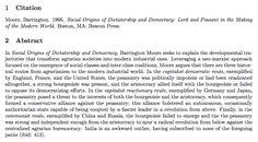 """En 1966, Barrington Moore Jr publica """"Los orígenes sociales de la dictadura y de la democracia""""."""