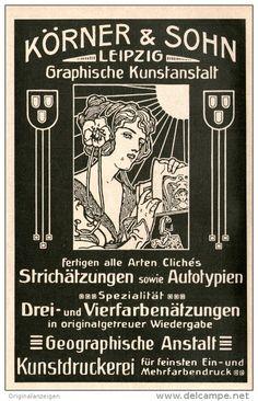 Original-Werbung/Inserat/ Anzeige 1914 - KÖRNER & SOHN LEIPZIG GRAPHISCHE KUNSTANSTALT ca. 180 x 100 mm