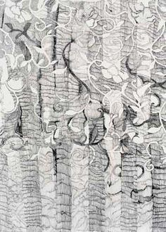 Irene Briant. Knitting drawing XXI.  2004. Ink on paper.  65h x 50w cm (sheet size)
