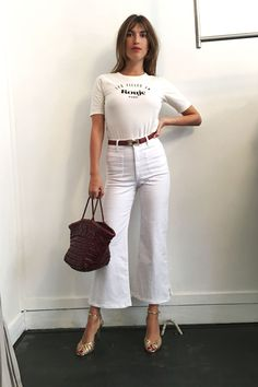 Jeanne Damas Wears Her Go-To Tee, Three Ways - HarpersBAZAAR.com