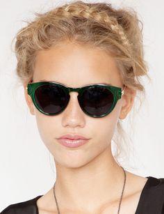green sunglasses - Pixie Market