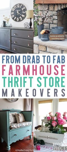 From Drab to Fab Farmhouse Thrift Store Makeovers  #Farmhouse, #FixerUpper, #FarmhouseMakeover, #FarmhouseThriftMakeover, #ThriftMakeover, #ThriftStore, #ThriftStoreMakeover, #Makeovers, #Upcycle, #Recycled, #Upcycled