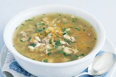 This is a chicken soup a Jewish grandmother would be proud of. Traditional chicken soup is said to cure the common cold. This healthy recipe uses lots of different herbs and spices to enhance the flavour. Soup For Sick, My Favorite Food, Favorite Recipes, Homemade Bone Broth, Chicken Soup Recipes, Recipe Chicken, Chicken Salad, Chicken And Vegetables, Chicken Thyme