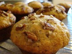 Muffins aux bananes, aux noix et aux pépites de chocolat sans gras