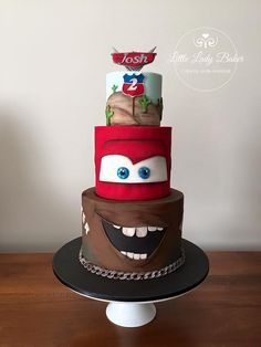 'Cars' Mater and Lightening McQueen mash up for... - Little Lady Baker