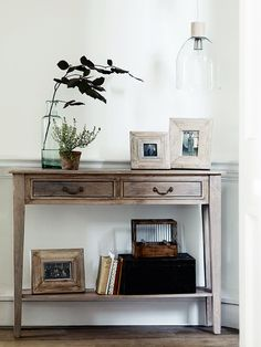Carefully handcrafted from mango wood with a limewashed finish, this elegant and ultra slim console table denotes French simplicity. Each table features curved detailing on the lower shelf, two handy drawers with simple brass handles and is ideal for displaying in your hallway, dressing room or living space.